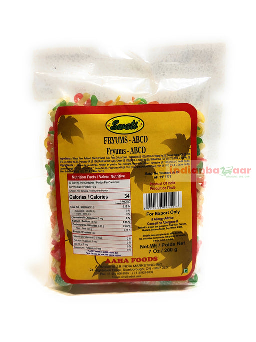 Fryums ABCD 200 g - Indian Bazaar - Online Indian Grocery Store