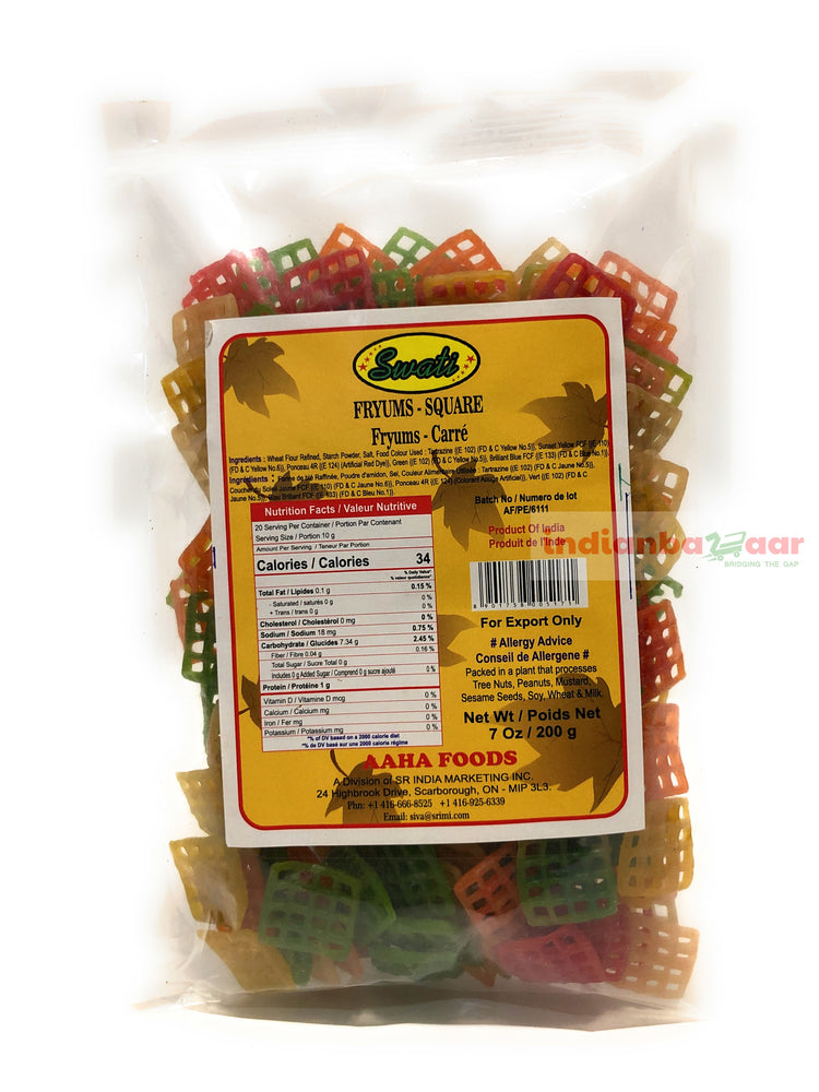 Fryums Square 200 g - Indian Bazaar - Online Indian Grocery Store