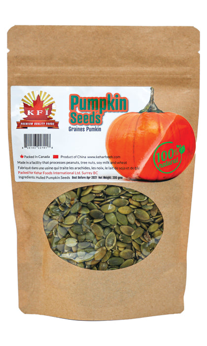 KFI Pumpkin Seeds Raw 200g - Indian Bazaar - Online Indian Grocery Store