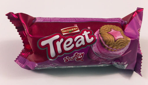 BR Strawberry Cream Treat Biscuits 64g - Indian Bazaar - Online Indian Grocery Store