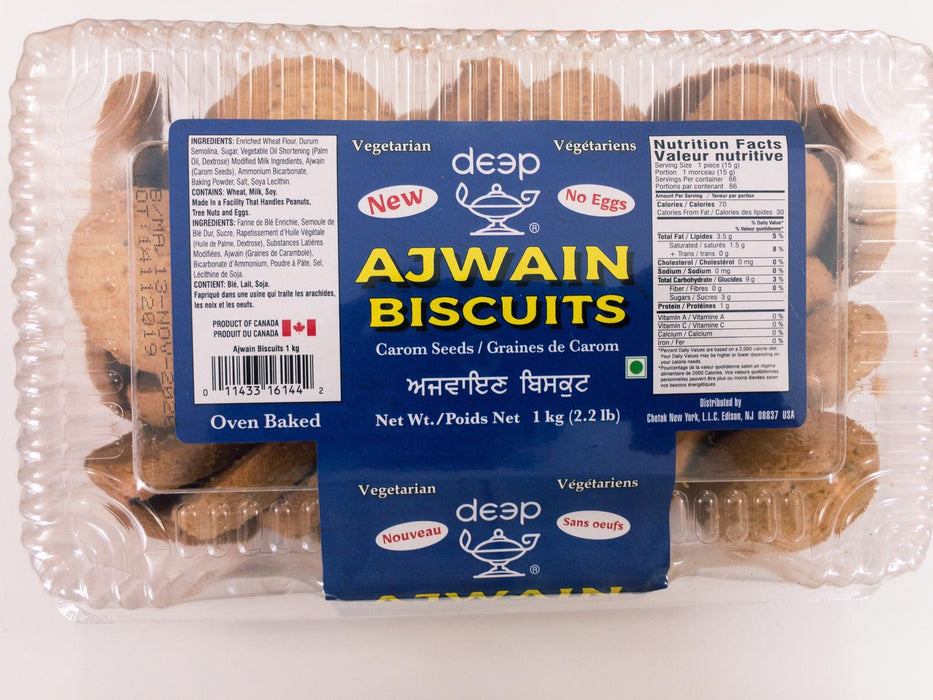 Deep Ajwain Cookies 2.2lb - Indian Bazaar - Online Indian Grocery Store