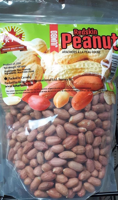 KFI Peanut Red Skin Raw 681g - Indian Bazaar - Online Indian Grocery Store