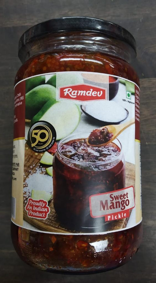 Ramdev Sweet Mango Pickle 850g - Indian Bazaar - Online Indian Grocery Store