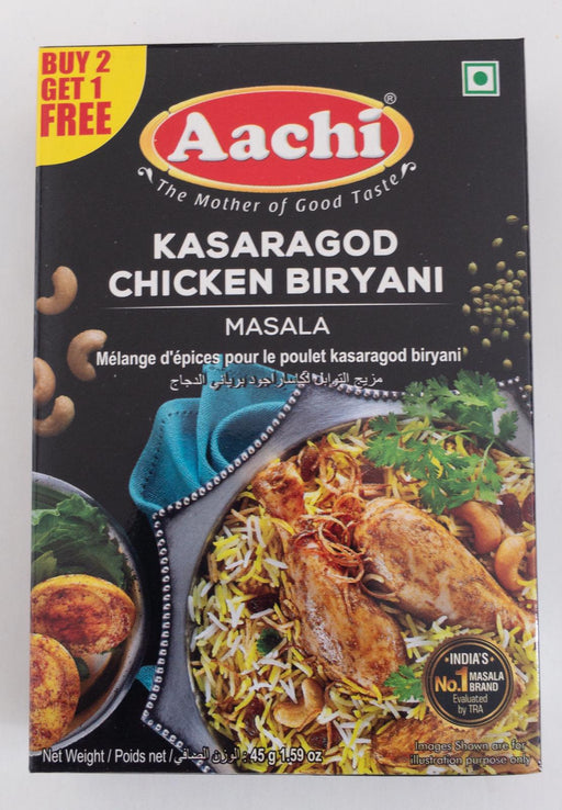 Aachi Kasargod Chicken Biryani B1G1 45g - Indian Bazaar - Online Indian Grocery Store