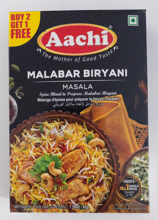 Aachi Malabar Biryani  B1G1 45g - Indian Bazaar - Online Indian Grocery Store