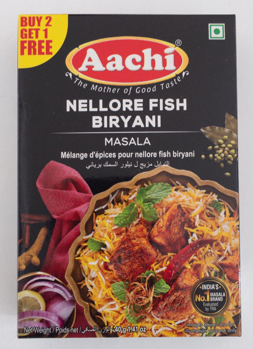 Aachi Nellore Fish Biryani 40g B1G1 - Indian Bazaar - Online Indian Grocery Store