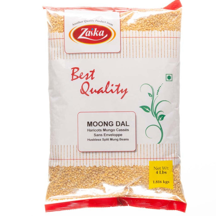 Zaika Moong Dal (Washed Split)4lb - Indian Bazaar - Online Indian Grocery Store