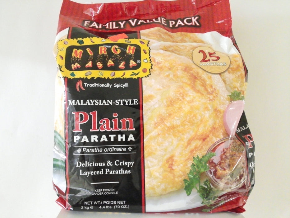 Mirch Masala Plain Paratha 25pc - Indian Bazaar - Online Indian Grocery Store