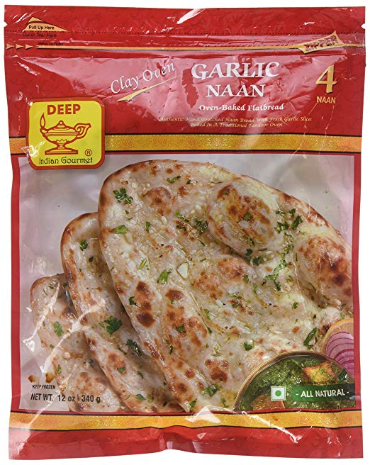 Deep Garlic Naan 4pc - Indian Bazaar - Online Indian Grocery Store