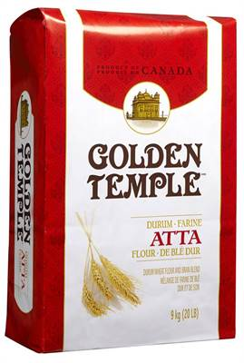 Golden Temple Durum Atta Flour Blend 20 lb - Indian Bazaar - Online Indian Grocery Store