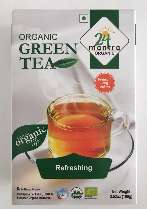24M Organic Green Tea 100g - Indian Bazaar - Online Indian Grocery Store