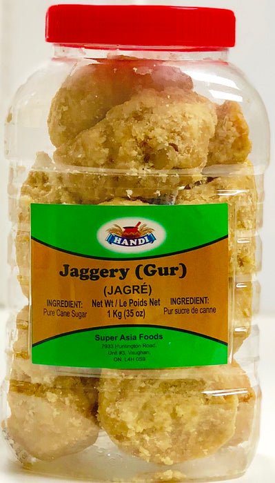 Handi Jaggery Jar(Gur) 1Kg - Indian Bazaar - Online Indian Grocery Store