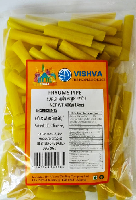 Fryums Pipe 400g - Indian Bazaar - Online Indian Grocery Store