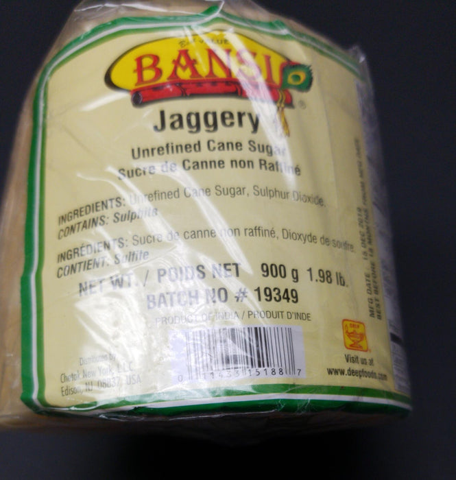 Bansi Jaggery Block 900g - Indian Bazaar - Online Indian Grocery Store