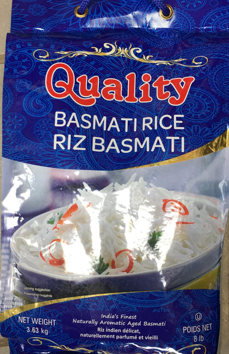 Quality Basmati Rice 8lb - Indian Bazaar - Online Indian Grocery Store