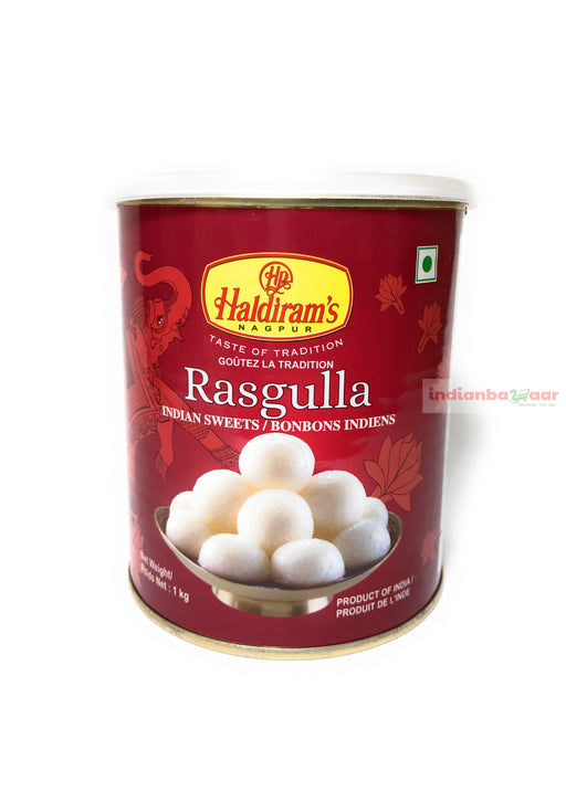 Haldiram's Rasgulla 1 kg - Indian Bazaar - Online Indian Grocery Store