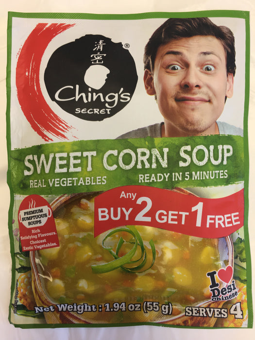 Ching's Sweetcorn Soup 55g B2G1 - Indian Bazaar - Online Indian Grocery Store