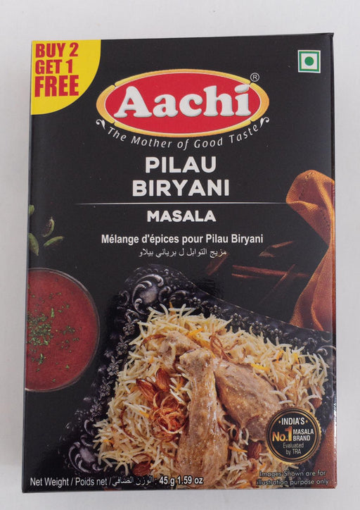 Aachi Pilau Biryani Masala 45g B1G1 - Indian Bazaar - Online Indian Grocery Store