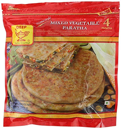 Deep MixVeg Paratha 4pc - Indian Bazaar - Online Indian Grocery Store