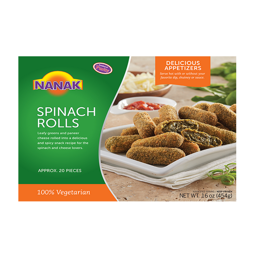 NK Spinach Rolls 454g - Indian Bazaar Inc