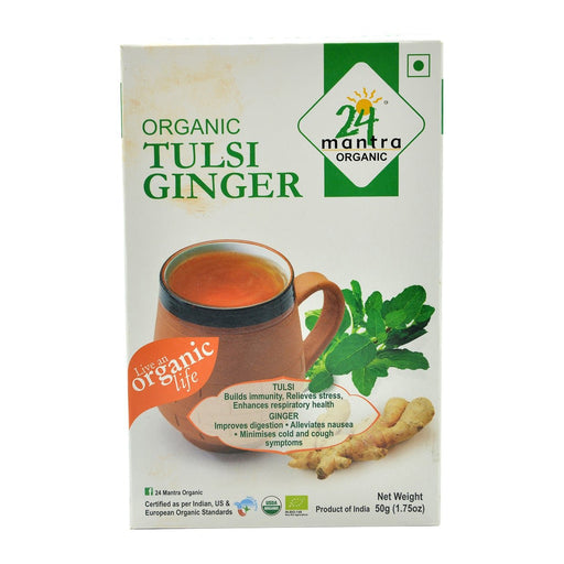 24M Org Tulsi Ginger Tea 50g - Indian Bazaar - Online Indian Grocery Store