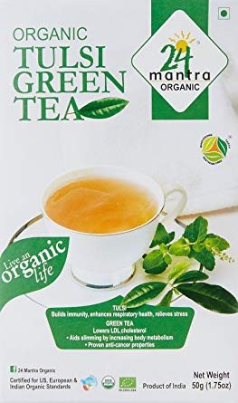 24M Org Tulsi Green Tea 50g - Indian Bazaar - Online Indian Grocery Store