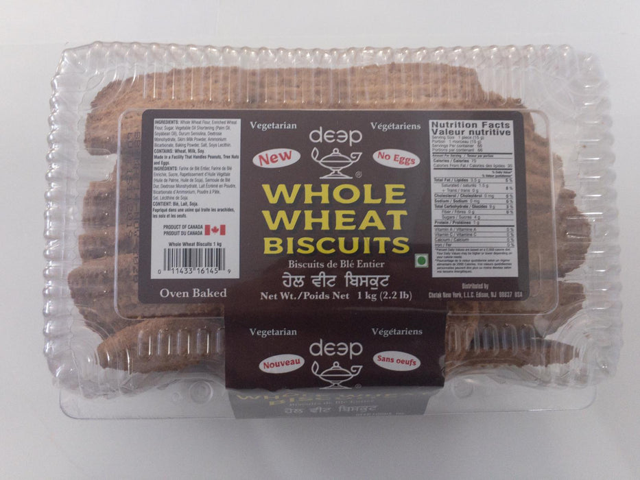 Deep Whole Wheat Cookies 2.2lb - Indian Bazaar - Online Indian Grocery Store