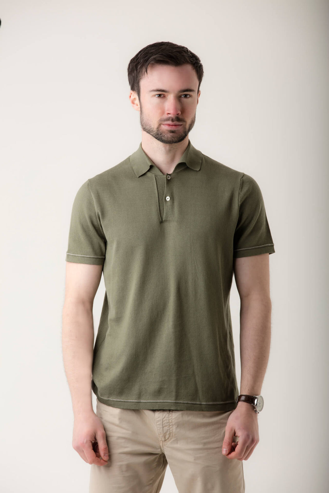Mens Knitted Polo Shirt