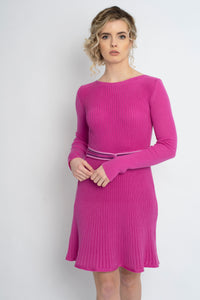 Twisted Knot Dress Hot Pink