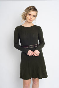 Twisted Knot Dress Green