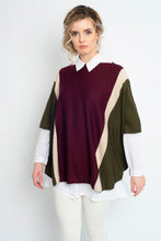 Load image into Gallery viewer, Draped Stripe Poncho