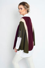 Load image into Gallery viewer, Stripe Luxury Poncho