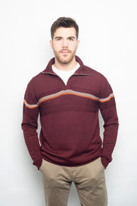 Polo Zip-Up Stripe Jumper