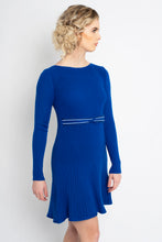 Load image into Gallery viewer, Twisted Knot Dress Cobalt Blue