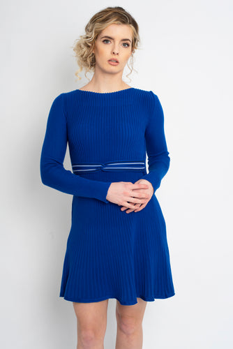 Twisted Knot Dress Cobalt Blue