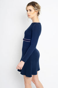 Twisted Knot Dress Navy