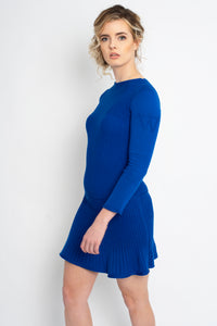 Fit and Flare Dress Cobalt Blue
