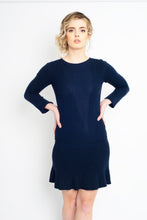 Load image into Gallery viewer, Fit and Flare Dress Navy