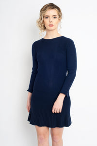 Fit and Flare Dress Navy