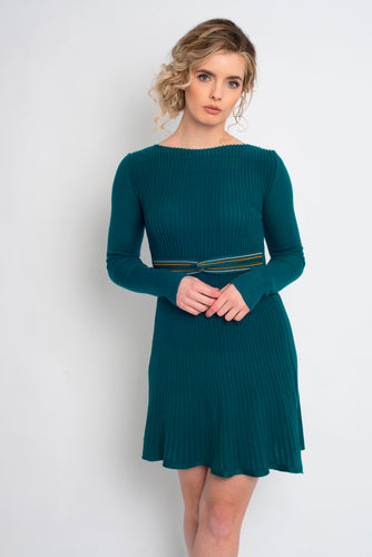 Twisted Knot Dress Teal