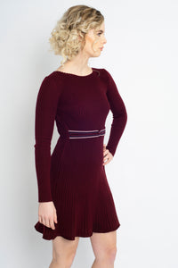 Twisted Knot Dress Burgundy