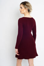 Load image into Gallery viewer, Twisted Knot Dress Burgundy