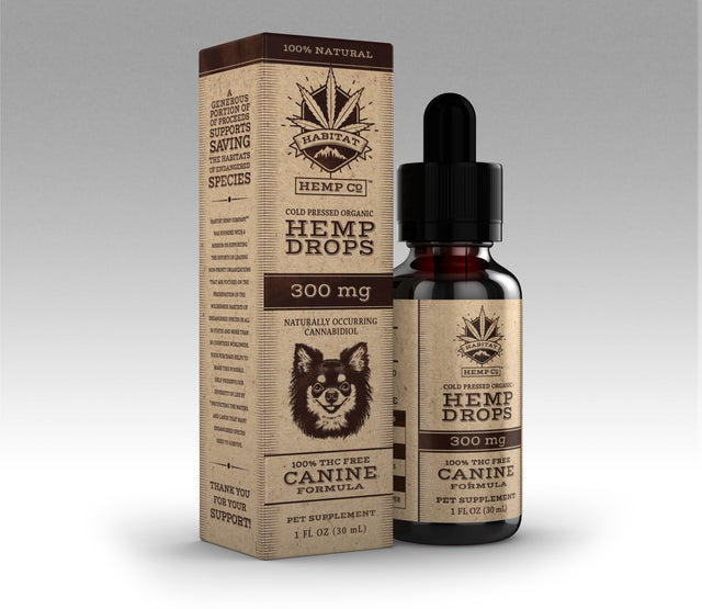 300mg Canine Hemp Drops (CASE)