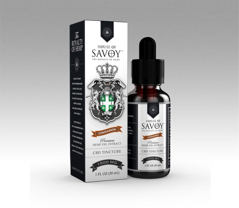 1500mg CBD Tincture - Cinnamon (CASE)