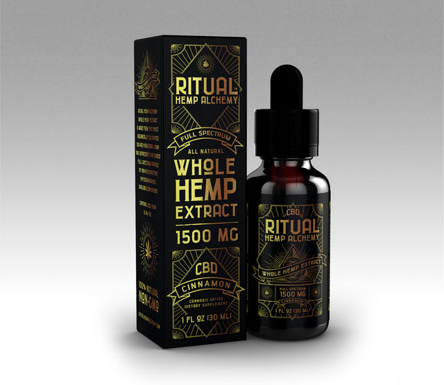 1500mg Full Spectrum Whole Hemp Extract - Cinnamon (CASE)