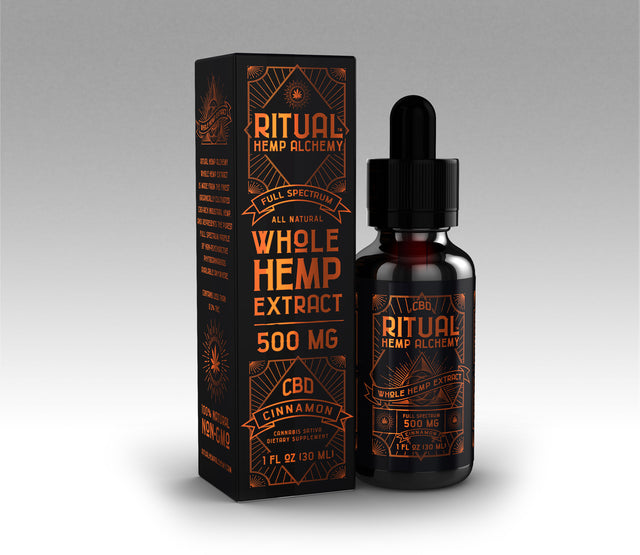 500mg Full Spectrum Whole Hemp Extract - Cinnamon (CASE)