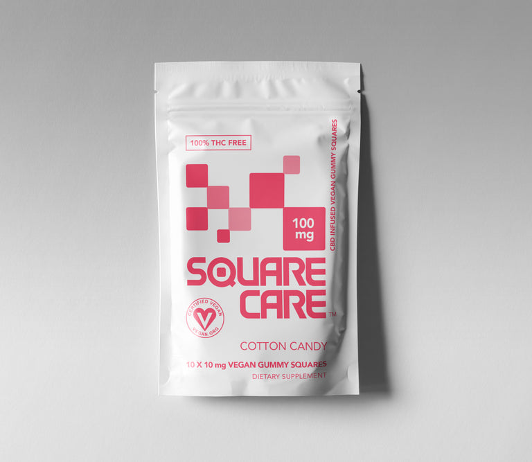 100mg Square Care Cotton Candy (CASE)