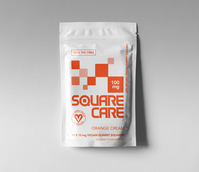 100mg Square Care Orange Cream (CASE)