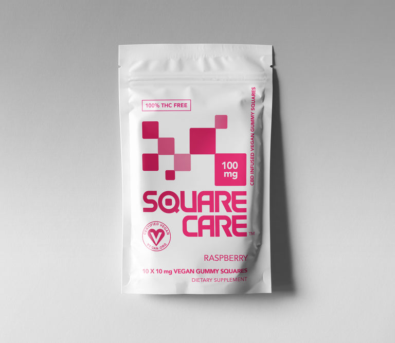 100mg Square Care Raspberry (CASE)