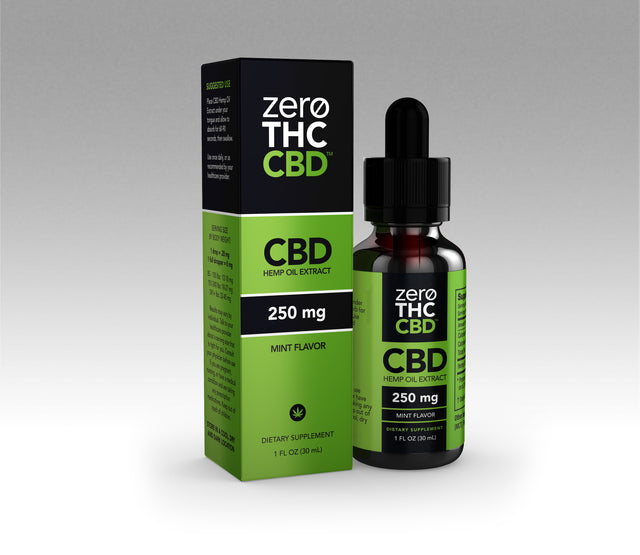 250mg THC Free Tincture - Mint (CASE)